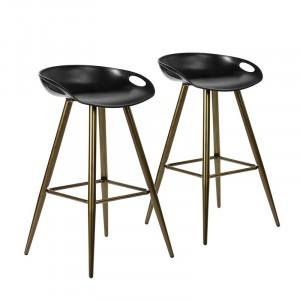Set 2 scaune de bar Kohlmeier, H 70cm