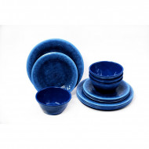 Set de 12 farfurii Potter Reactive, albastru