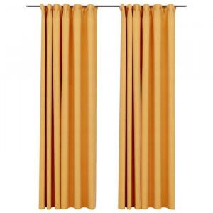 Set de 2 draperii Cezar, galbene, 140 x 245 cm