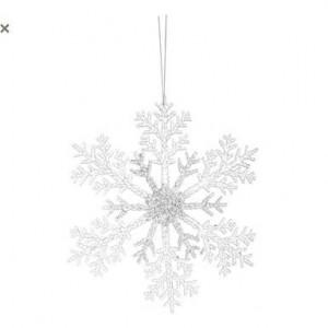 Set de 2 ornamente Fiocco di Neve glitter