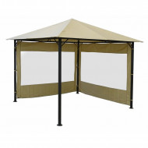 Set de 2 pereti laterali pentru pavilion, bej, 190cm H x 250cm W x 1cm D