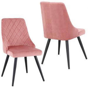 Set de 2 scaune Clocher, roz/negre, 88 x 50,5 x 51 cm