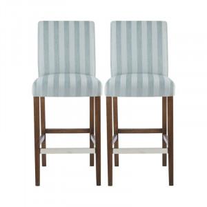 Set de 2 scaune de bar Abshire din lemn masiv, H 66 cm