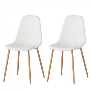 Set de 2 scaune Iskmo, alb