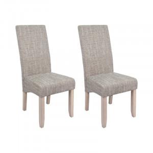 Set de 2 scaune Kiersten, MDF, natur, 108 x 47 x 60 cm