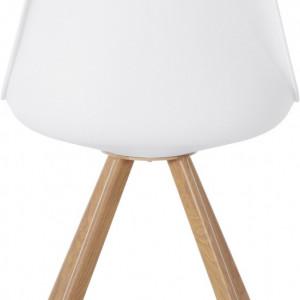 Set de 2 scaune Lazio - piele sintetica alba