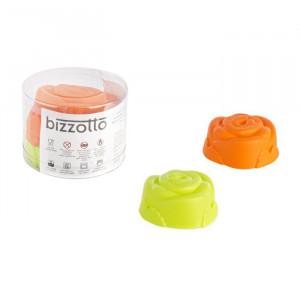 Set de 4 forme pentru briose, silicon, portocaliu/verde 6,8 x 3 cm