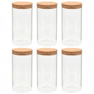 Set de 6 borcane, din sticla, 25 x 8 x 8 cm