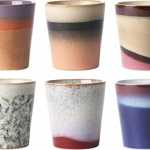 Set de 6 pahare din ceramica, 200 ml