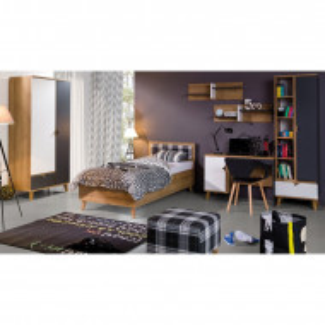 Set de mobilier pentru dormitor Brianne, 6 piese, MDF, maro