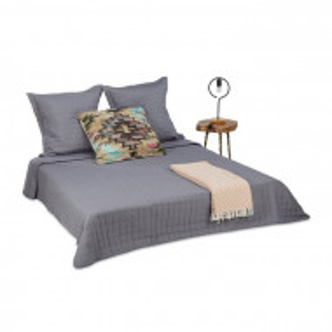 Set de o cuvertura de pat si 2 fete de perna, gri, 220 x 240 cm