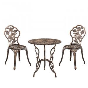 Set de o masa si 2 scaune Dorland, bronz