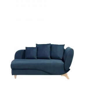 Sezlong Meri, catifea, albastru, 156 x 72 x 77 cm