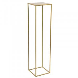 Stand pentru ghiveci Bensonhurst, auriu, 100 x 24 x 24 cm