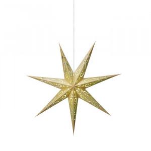 Stea iluminanta Elin, plastic, galbena, 75 x 75 x 25 cm