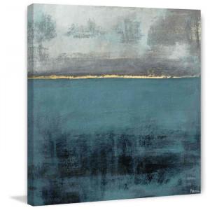 "Tablou ""City Lights at the Bayou End"", albastru/gri, 45 x 45 cm"