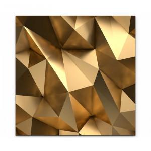 Tablou 3D, auriu, 90 x 90 cm