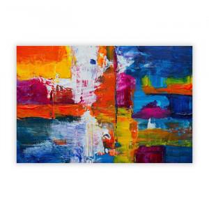 """Tablou """"Artă abstractă Vol.443"""", hartie, albastru, 59,4 x 84,1 x 0,1 cm"""