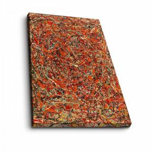 Tablou Jackson Pollock, panza, multicolor, 100 x 70 x 3 cm