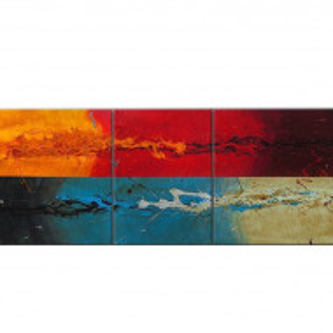 Tablou multicolor, 3 piese, 70 x 190 x 2 cm