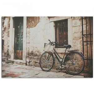 Tablou 'Retro Bike', maro/negru, 70 x 50 cm