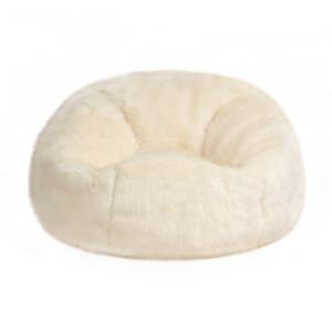 Taburet Bean Bag, crem, 70 x 84 x 84cm