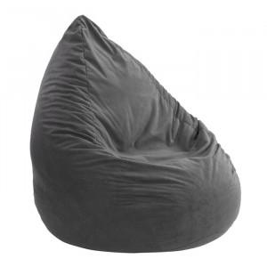 Taburet Beanbag, poliester, antracit, 60 x 60 cm