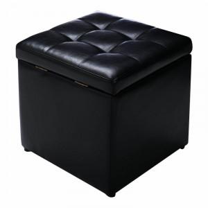 Taburet cu spațiu de depozitare Symple Stuff, negru