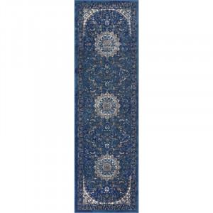 Traversa Kyler, polipropilena, albastru, 69 x 231 cm