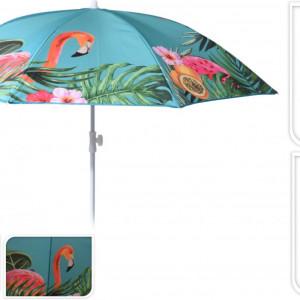 Umbrela pentru plaja Tropical Karll, 180x200 cm, multicolor
