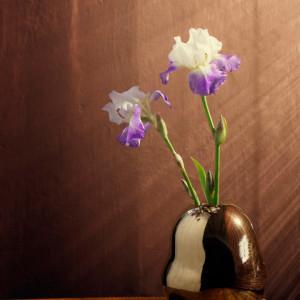 Vază Fiora confecționată manual, auriu metalizat, 20 x 16 cm