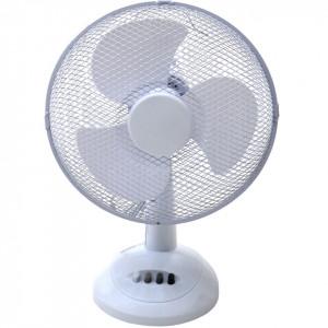 Ventilator oscilant de birou, alb, 12 inch