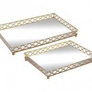 Set de 2 tavi decorative Leslie
