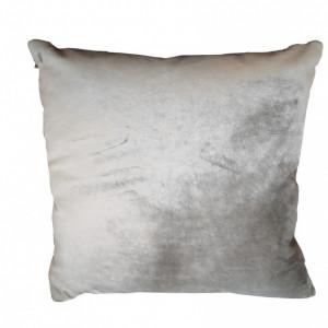 Perna decorativa 45x45cm din catifea gri argintiu