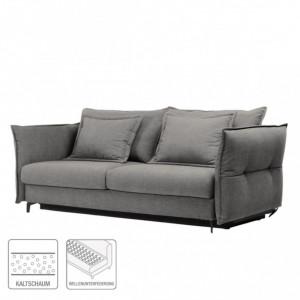 Canapea extensibila Golm din tesatura gri deschis