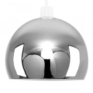 Abajur metalic, crom, 14,7 x 20 x 20 cm