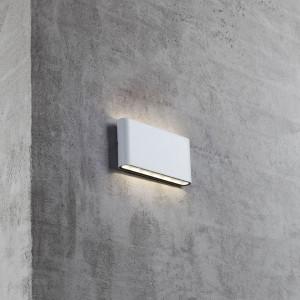 Aplica LED Kinver I, sticla / otel, 2 becuri
