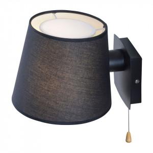 Aplica Miriam tesatura/fier, negru, 1 bec, 230 V, 60 W