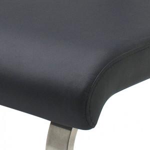 Banca Marco din piele sintetica neagra 175cm