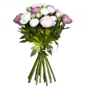 Buchet de trandafiri artificiali Renoncule, 35 x 26 x 26 cm