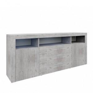 Bufet Eleada, MDF, gri, 66,8 x 166,5 x 33 cm