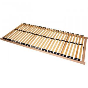 Cadru de pat, lemn masiv de fag, maro, 140 x 200 cm