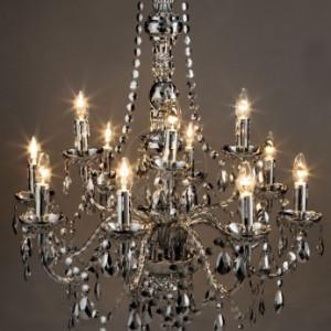 Candelabru 12 brate 12 luci Jewel argintiu