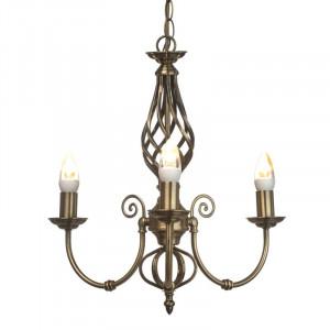 Candelabru Curley cu 3 lumini, 74 x 46 cm