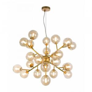Candelabru Mary Sputnik, metal/sticla, auriu