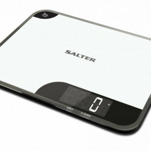 Cantar de bucatarie Salter 1064WHDR, alb/negru, 23 x 17 x 1,8 cm