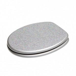 Capac de toaleta Crystal, argintiu, 47 x 37 cm