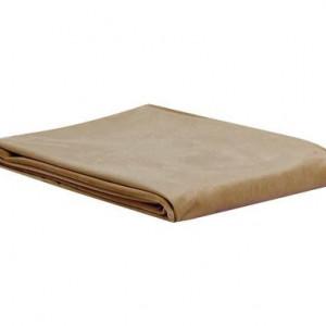 Cearșaf din catifea taupe, 140x260 cm