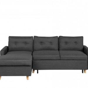Coltar FLAKK, extensibil, textil, gri, 90 x 232 x 147 cm