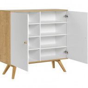 Comoda Arlo din lemn masiv, alb, 117 x 120 x 40 cm